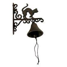 Rustic Metal Wall Mount Cat Door Call Bell Farm/Garden/Yard/Patio Decor Doorbell