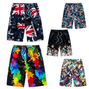 Men Knee Length Shorts Swimming Swimwear Summer Trunks Surf Beach Quick Dry Pant