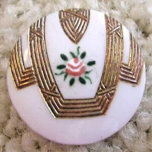 Ex Rare Jugendstil Milk glass transitional antique button