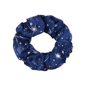 Soft Organza Hair Scrunchie Chiffon Gliter Hair Ties Elastic Ring Rubber Bands