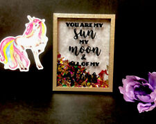 Rainbow Teen Girls Picture Room Wall Decor Confetti Frame Poem Love Gift