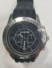 UNLISTED Brand Watch Tachymeter Black Band