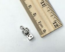 New listing Vintage Sterling Silver Pair Of Dice Charm Bracelet Pendant Lucky 7 on Each Side