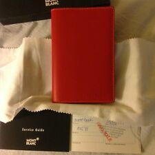 NEW IN BOX MONTBLANC DIARIES & NOTES DIARY BOOK MEDIUM MIND RED LEATHER PAPER