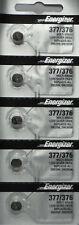 5 Pack Fresh ENERGIZER Silver Oxide WATCH Battery 1.55v CR376 CR377 CR 376 377
