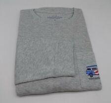 Vineyard Vines Gray American Flag Whale Print Long Sleeve Tee  L / LARGE YV-5