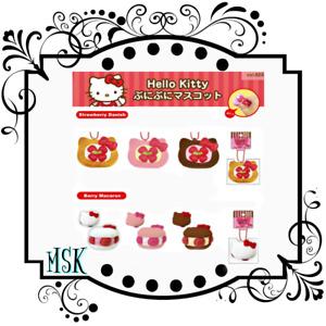 Hello Kitty Strawberry Danish & Berry Macaron squishy series