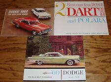 Original 1960 1961 1962 Dodge Sales Brochure Lot of 3 60 61 62 Dart Polara