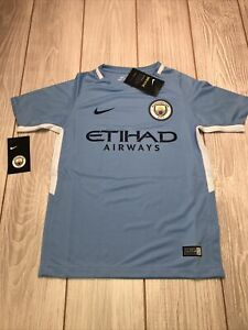 New Nike Youth Manchester City Football Club Soccer Jersey Size Kids Large