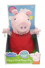 "PEPPA PIG ""HUG n' OINK"" PLUSH DOLL! SOFT TALKING STUFFED TOY FIGURE 12"" BNIB"