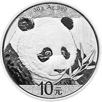 China Panda 30 g Silbermünze 2018 30g Silber silver coin 999 fine silver
