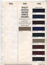 1976/77 Dulux Imported Datsun Colours Dulon Duco 1975/77 Imported Commercial