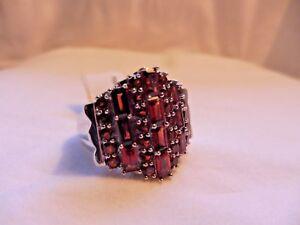 Ladies 5.65 tcw Garnet Cocktail multi- Emerald Cut Gemstone Ring /Statement Gem