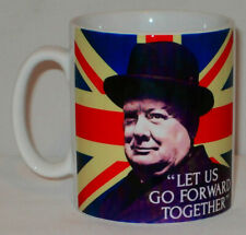 Winston Churchill Go Forward Together Mug Can Personalise Great Patriot Gift Cup