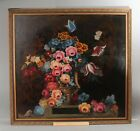 LARGE Antique Early 19thC Victorian Wild Flower Still Life O/C Oil Painting NR <br/> ..No Reserve...Possible FREE Delivery!