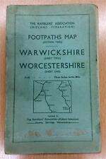 Ordnance Survey Rare Ramblers Association Map (Midland Assoc). 1939. 3 inch:mile
