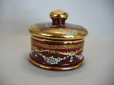 Vintage Laguna Venezia Murano Glass Ruby Red and Gold Gilt Vanity / Candy Dish