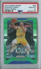 Stephen Curry 2019 20 Panini Prizm Basketball #98 Warriors Green Prizm PSA 10