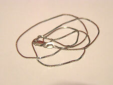 """14K WHITE GOLD BOX CHAIN NECKLACE 17"""" LONG--WEIGHT 2.37 GRAM--PRICED REDUCED!!!!"""