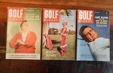 1960-61 LOT OF 3 GOLF DIGEST MAGAZINE GREAT CONTENT CASPER PALMER JONES ++ NICE
