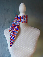 Union Jack rockabilly scarf, retro union jack flag scarf, union jack bandana