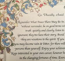 Desiderata Poem by Max Ehrmann=Inspirational Words on Medici Florentine Paper