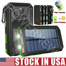 New 2021 Super 9000000mAh USB Portable Charger Solar Power Bank For Cell Phone