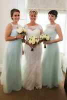 2 x Gorgeous mint green bridesmaid dresses... one size 6 and one size 10