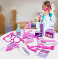 Medical Kid Role Play Pretend Toy Nurse Carry Box Kit Case Set Doctor Toy A9/