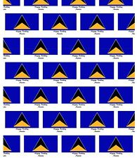 Personalised A1 St Lucia Flag Print Wrapping Paper And Gift Tags, Birthday