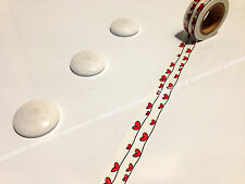 Japanese Washi Tape 15mmx10m Love Heart On A String #W2013