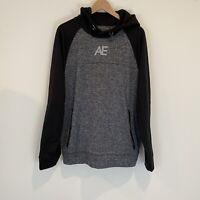 American Eagle Men's Size L Hoodie Sweatshirt Gray Activewear NWT