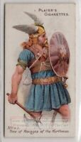 787 A.D. Norse Viking Warrior  Armor And Weapons 100+ Y/O Trade Ad Card