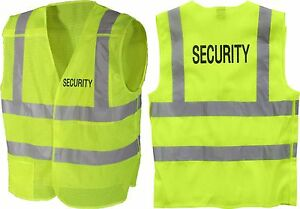 Neon Green High Visibility Reflective 5 Point Oversized Security Vest