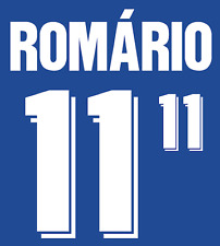 Brazil Romario Nameset 1994 Shirt Soccer Number Letter Heat Print Football Away