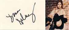 Dana Delaney SIGNED 4x6 CARD  +photo 8x10 sexy 'China Beach' authentic autograph
