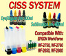 CISS Continuous Ink System  for Epson Workforce WF-2750 WF-2760 WF-2660 WF 2650