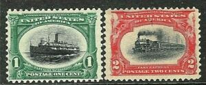 [SD]  US  #294-5 Mint-NH 1901 ~ PAN-AM BICOLOR EXPO  ISSUE