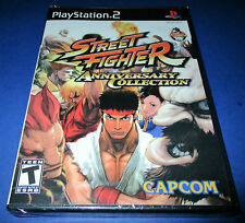 Street Fighter Anniversary Collection Sony PlayStation 2 - PS2   New! Free Ship!