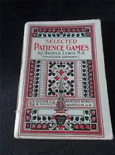 Libro de instrucciones de colección reglas para Juegos de paciencia Naipes Juego Prof Hoffmann