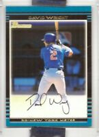 2002 Bowman David Wright uncirculated Rookie Card new york mets limited 671 made
