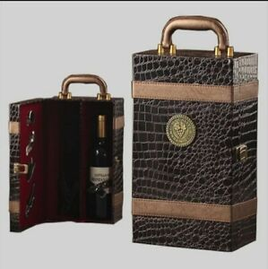 Stylish Leather Double Wine Case/Holder with Handle-High Quality+Accessories🍷✔
