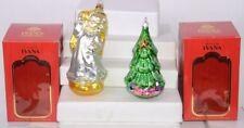"Lot of (2) Ivana Trump European Glass Angel & Tree Christmas Ornaments 7""H"