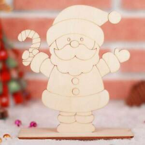 Coloring Painting Graffiti Board Xmas Wooden Ornament Party Desk Decor Lovely