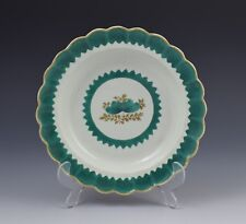 First Period Worcester French Green Plate/Dish c.1770