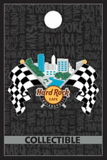 Hard Rock Cafe INDIANAPOLIS 2017 Checkered RACING Flags & Cityscape PIN #100081