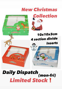 Empty Pick and Mix Sweet Boxes with Inserts🌲CHRISTMAS COLLECTION🌲10x10x3cm👈🏻