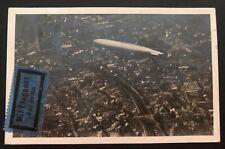 1931 Vienna Austria RPPC Postcard Cover Graf Zeppelin LZ 127 To Gablonz Sc#C21&7