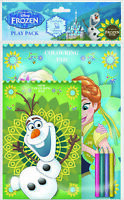Disney Frozen Fever Play Pack Colouring Pads Pencils Childrens Activity Set Kids