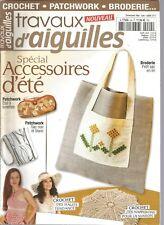 TRAVAUX D'AIGUILLES N°24 SPECIAL ACCESSOIRES D'ETE : SAC, CROCHET, BRODERIE...